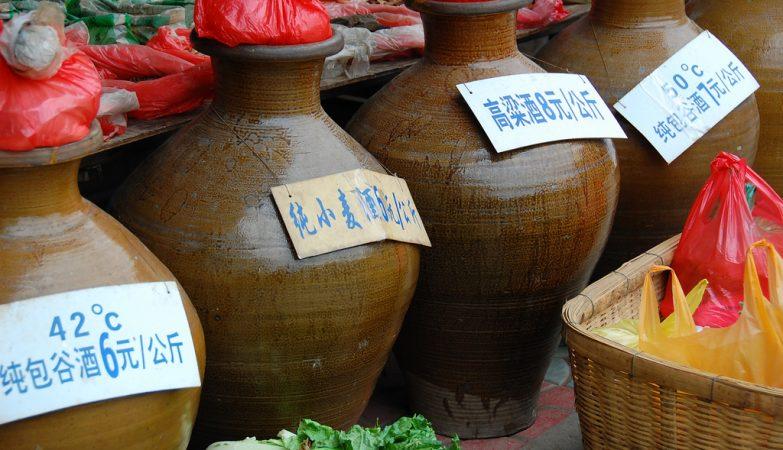 Licor de baijiu, bebida típica da China