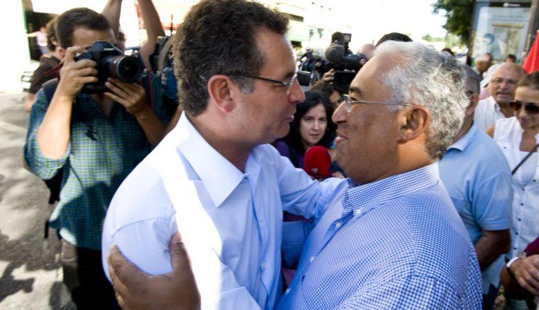 António José Seguro com António Costa em Lisboa, Setembro de 2013