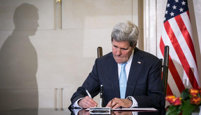O secretário de Estado norte americano, John F. Kerry
