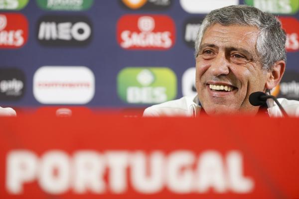 O selecionador Fernando Santos