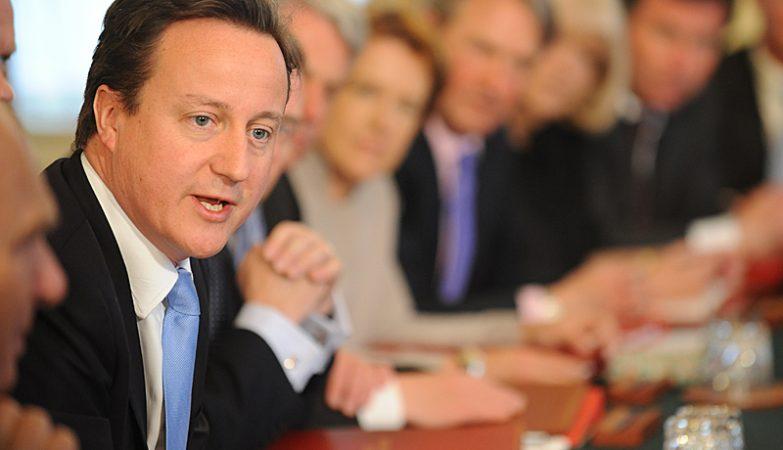O primeiro ministro, David Cameron, em reunião do executivo britânico