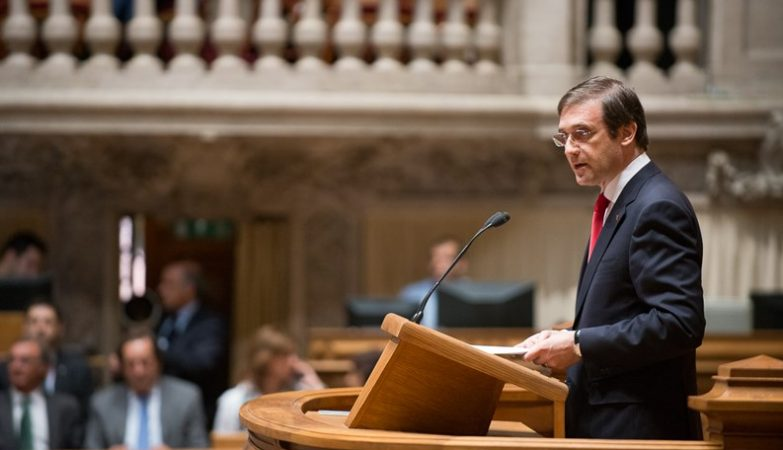 Primeiro-ministro, Pedro Passos Coelho, no debate sobre o estado da Nação, Assembleia da República