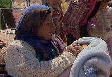 Nesra deu à luz enquanto fugia da Síria para a Turquia para fugir ao terror dos jihadistas do Estado Islâmico
