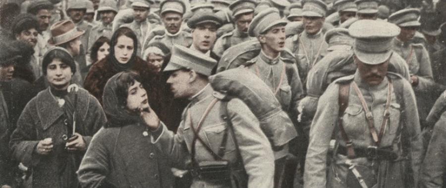 Soldados portugueses embarcam para a guerra