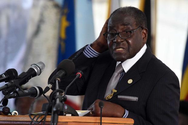 Robert Mugabe, presidente do Zimbabué