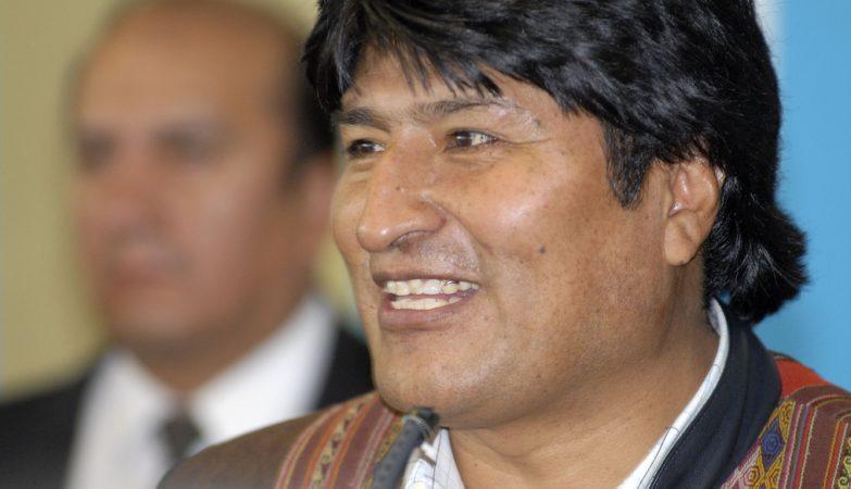 Evo Morales, o presidente da Bolívia