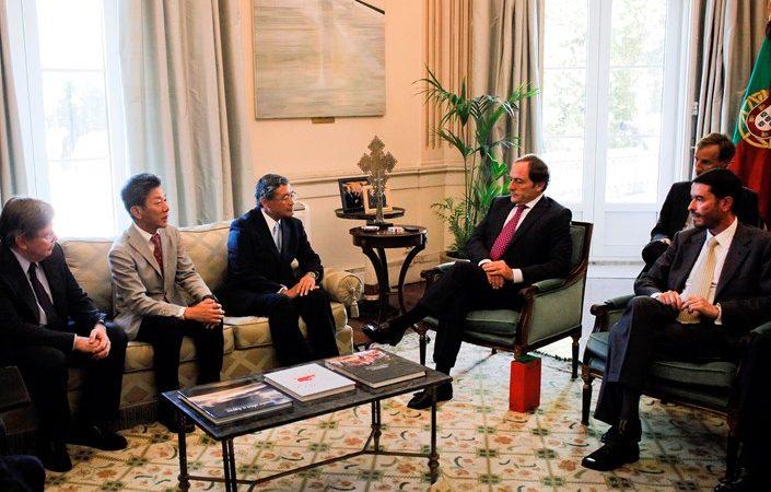 Reunião do vice-primeiro-ministro Paulo Portas com o presidente da multinacional agroindustrial japonesa Kagome