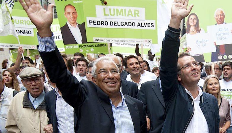 António Seguro e António Costa nas Autárquicas em Lisboa