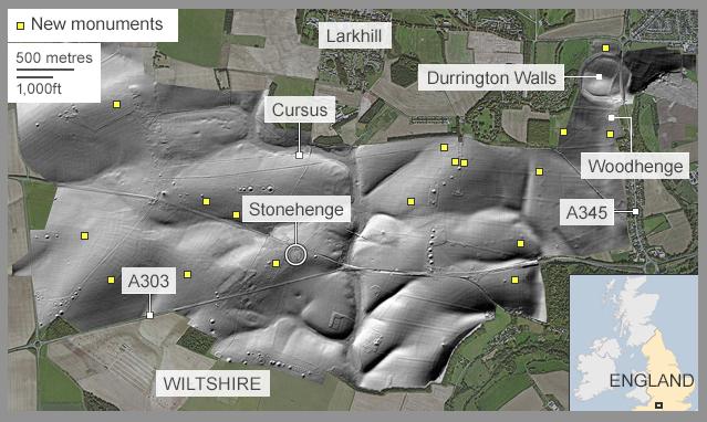 Stonehenge não estava sozinho. Pelo contrário, fazia parte de uma rede de inúmeras estruturas arqueológicas.