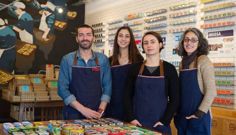 A equipa da Loja das Conservas