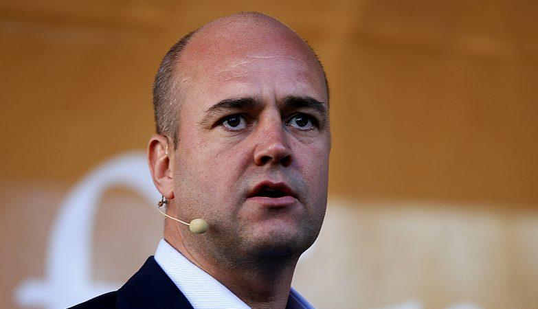 O primeiro ministro da Suécia, Fredrik Reinfeldt