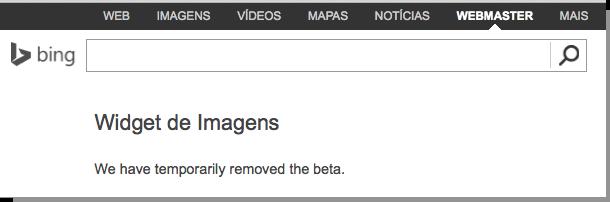 Bing Imagem Widget inacessível