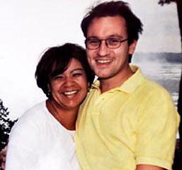 Patrice Braut e a namorada, Lupe Mendez