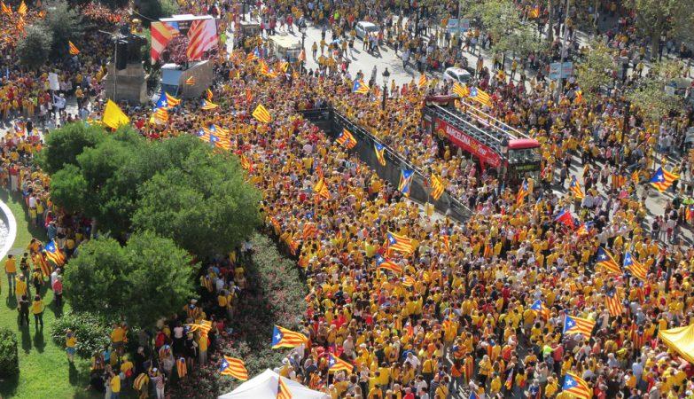 Manifestação pela independência da Catalunha, 19 outubro 2014