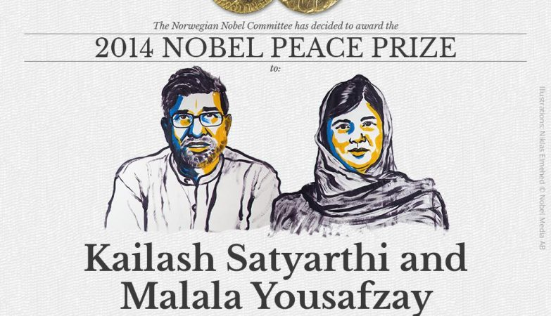 Kailash Satyarthi e Malala Yousafzay, galardoados com o Nobel da Paz 2014