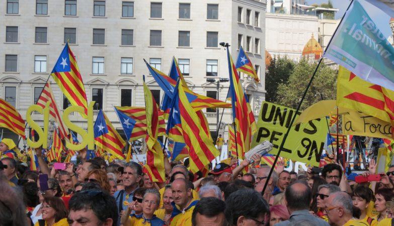 Manifestação pela independência da Catalunha, a 19 outubro de 2014