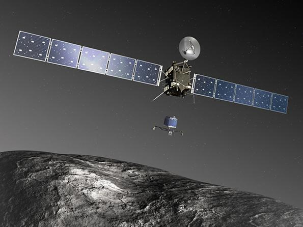 Depois de dois anos adormecidas, a nave Rosetta e a sonda Philae encontram o seu  cometa