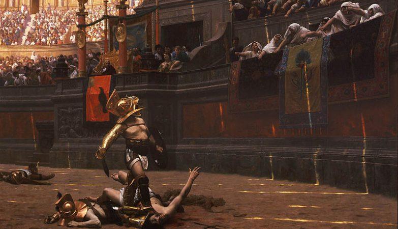 """""""Pollice Verso"""", polegares para baixo, de Jean-Leon Gerome (1872), o quadro que inspirou Ridley Scott a avançar com o seu Gladiator"""