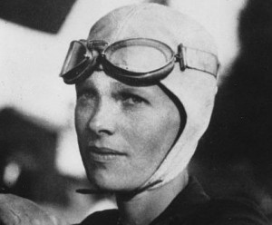 A mítica aviadora Amelia Earhart