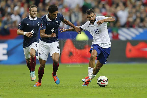 Danny num lance do França-Portugal