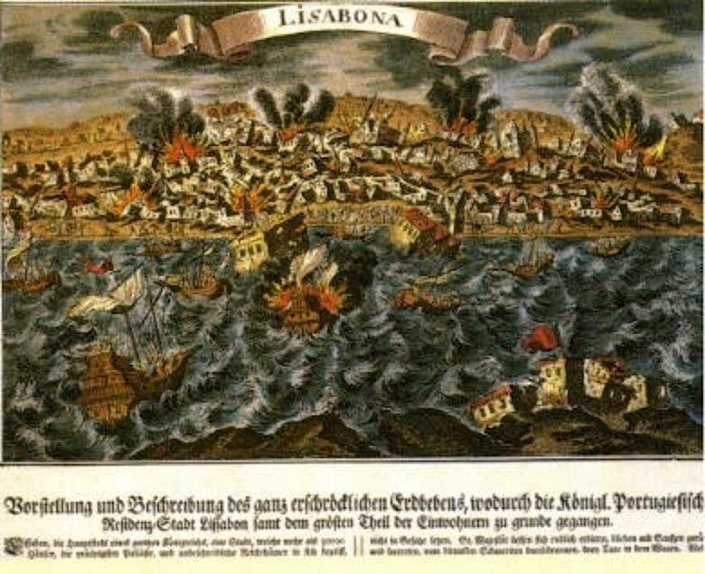 Terramoto e tsunami de 1755 ao largo de Lisboa