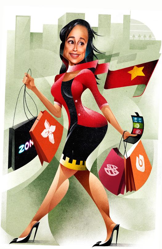 A empresária angolana Isabel dos Santos, filha do presidente José Eduardo dos Santos, ainda Às compras em Portugal