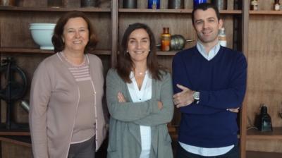 Graça Rocha, Teresa Gonçalves e Rui Soares, da Universidade de Coimbra