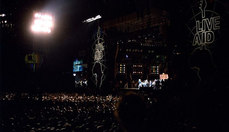 Concerto Live Aid no JFK Stadium, Philadelphia, Estados Unidos, 1985