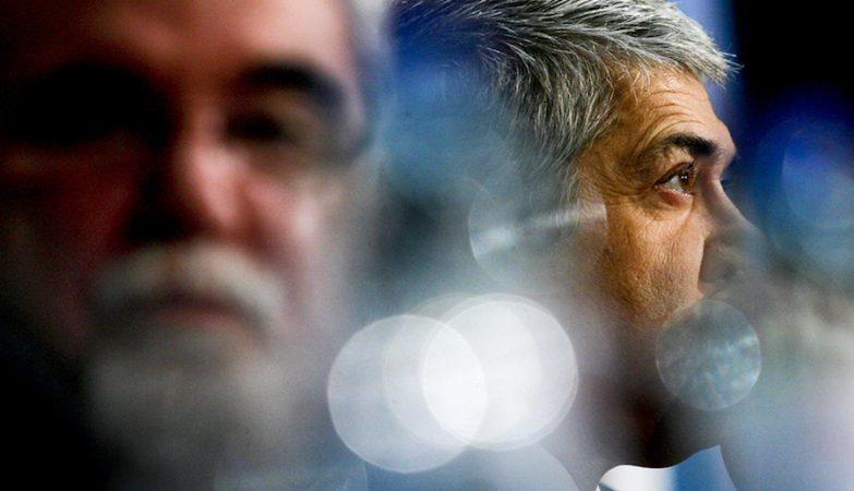 José Sócrates com Vieira da Silva