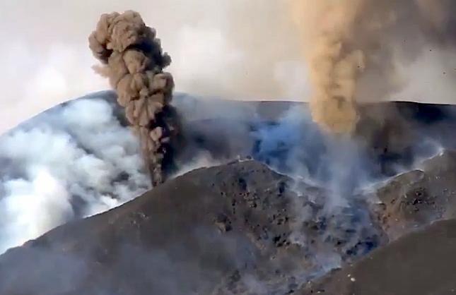O vulcão da Ilha do Fogo em Cabo Verde