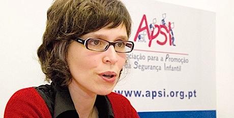A presidente da Associação para a Promoção da Segurança Infantil, Sandra Nascimento