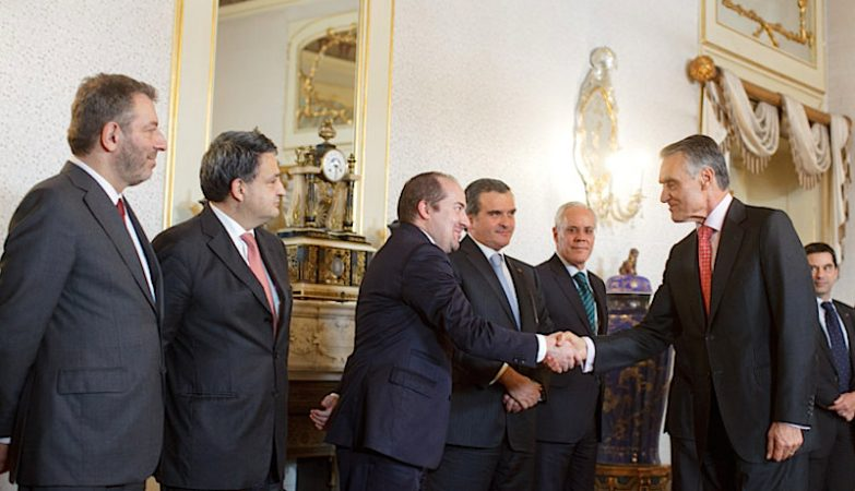 Nuno Crato, Paulo Macedo, Álvaro Santos Pereira, Miguel Relvas, Miguel Macedo, Aníbal Cavaco Silva, Vítor Gaspar, dois ministros, quatro ex-ministros, um presidente