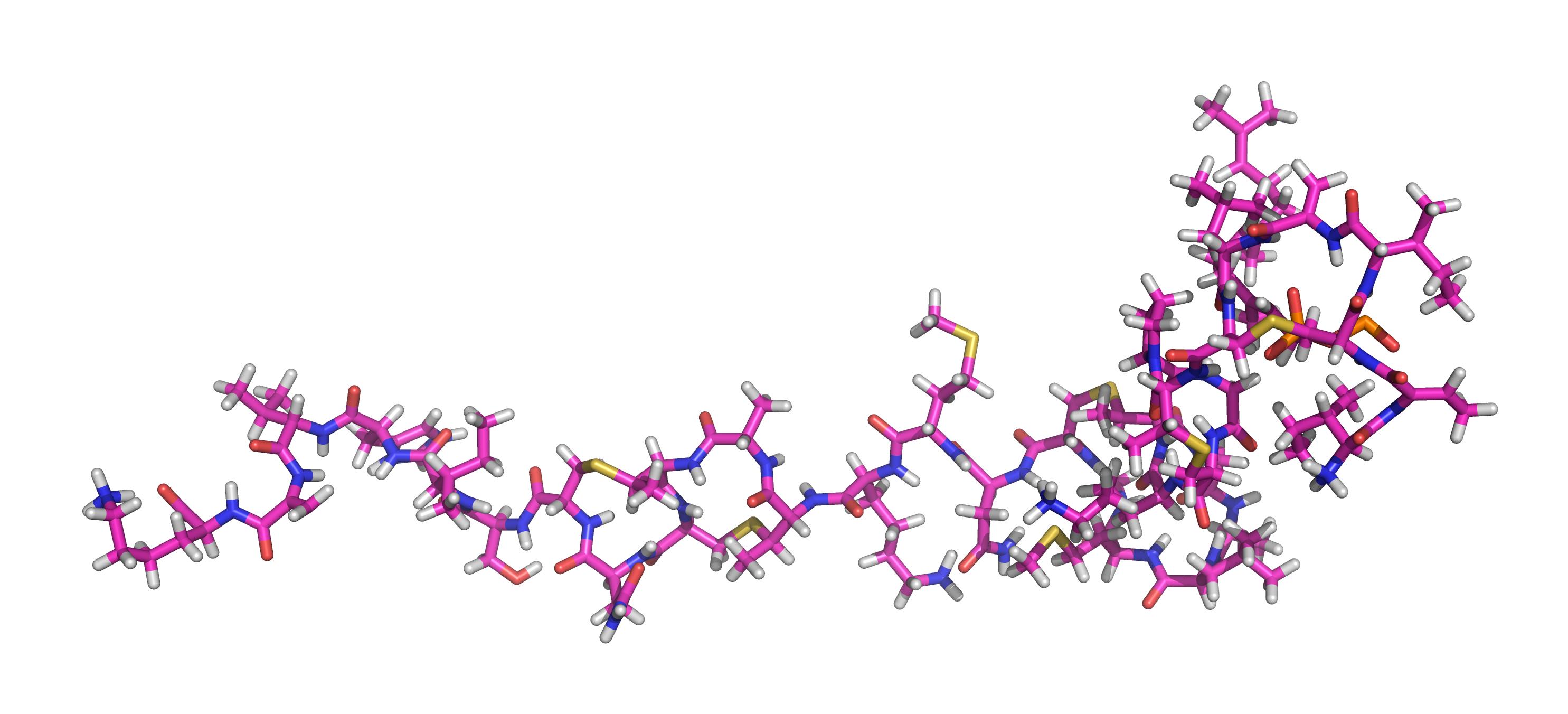Modelo 3D da molécula de Nisina