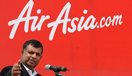 O luso-descendente Tony Fernandes, CEO da Air Asia