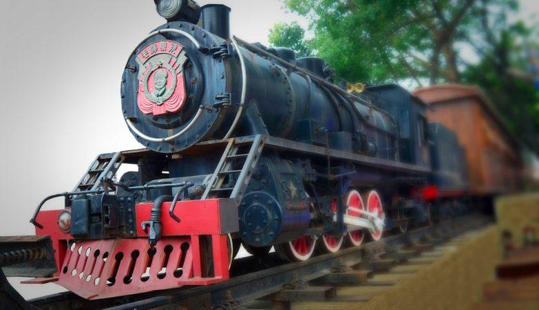 A locomotiva Mao Zedong no museu de Dalian, em 2013