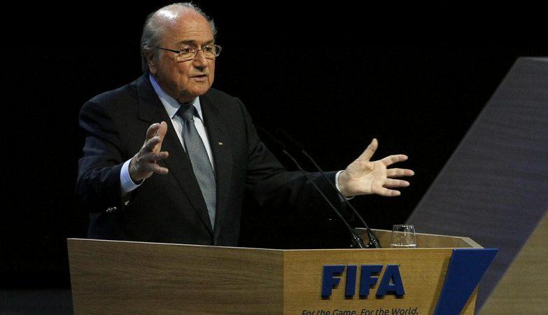 O presidente da FIFA. Joseph Blatter