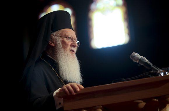 O patriarca Bartolomeu I, da Igreja Ortodoxa