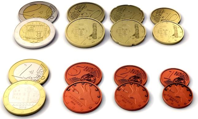 As novas moedas de Euro de Andorra