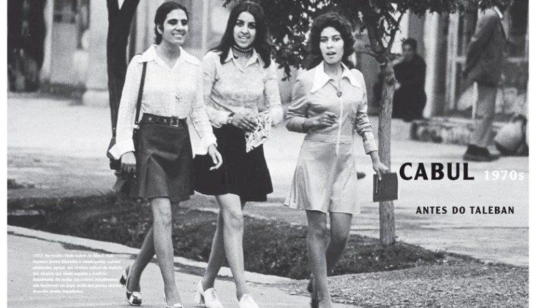 Mulheres afegãs em Cabul nos anos 70