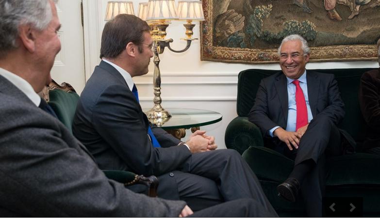 O primeiro-ministro, Pedro Passos Coelho, com o líder do PS, António Costa
