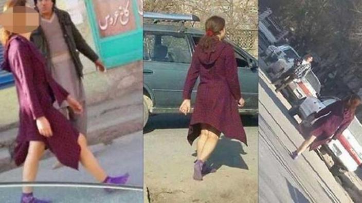 """Uma jovem com um """"chocante"""" vestido curto em Cabul"""