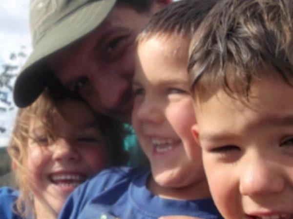 Scott Mcglaughlin com os 3 filhos