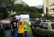 Protestos contra a escassez em Caracas, Venezuela