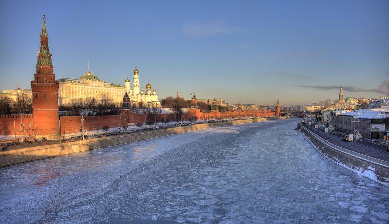 Pôr de Sol de inverno no Kremlin, Moscovo