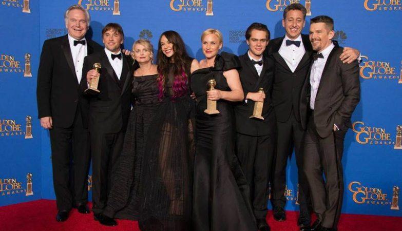 """A equipa e elenco do filme """"Boyhood"""", de Richard Linklater"""