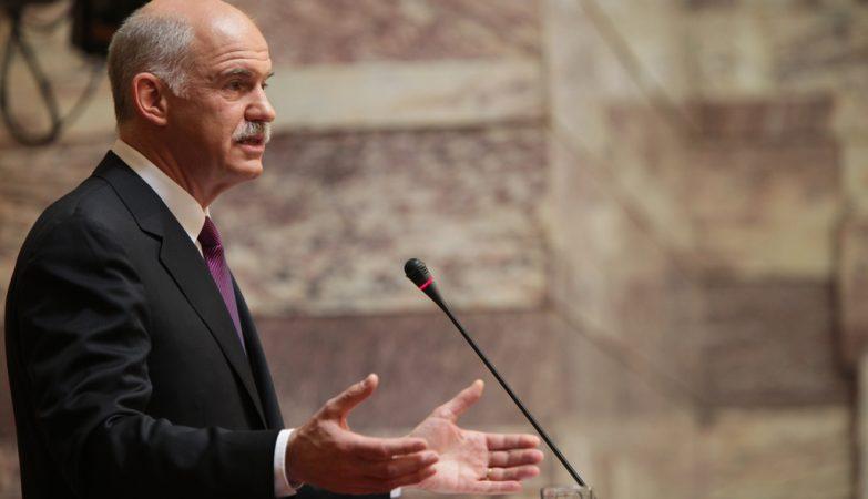 George Papandreou, antigo líder do PASOK e primeiro-ministro da Grécia entre 2009 e 2011