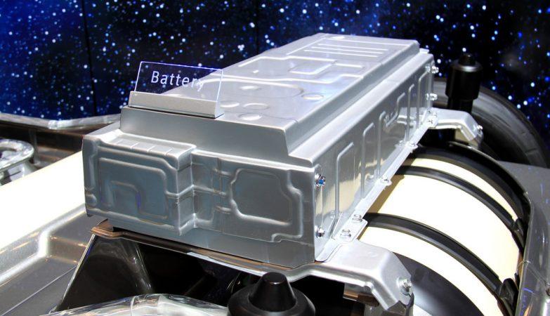 Bateria de hidrogénio Toyota em exposição no New York International Auto Show 2014