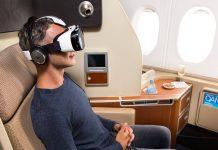 Samsung Gear VR nas viagens da Quantas