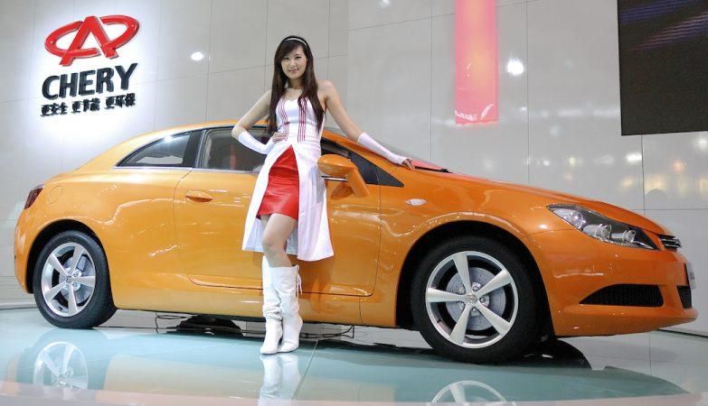 Um Chery made in China em exposição na Auto Shanghai