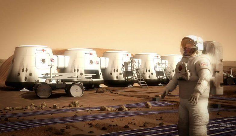 Colónia Mars One em Marte